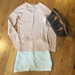 Light Peach Summer Crewneck Sweater